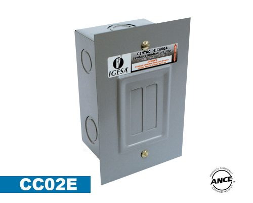 Centro de carga 2 polos empotrar – CC02E