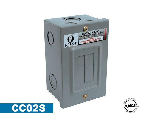 Centro de carga 2 polos sobreponer – CC02S