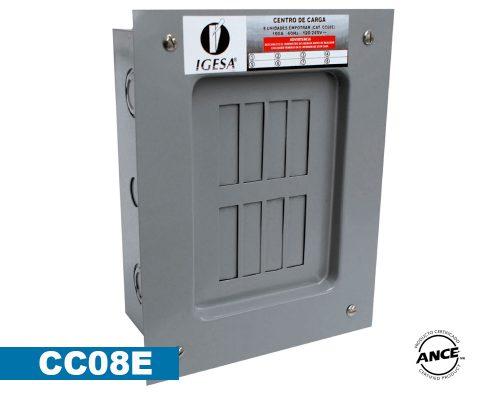 Centro de carga 8 polos empotrar – CC08E
