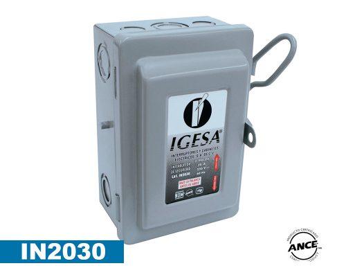 Interruptor de seguridad de 2 polos 30 Amp – IN2030
