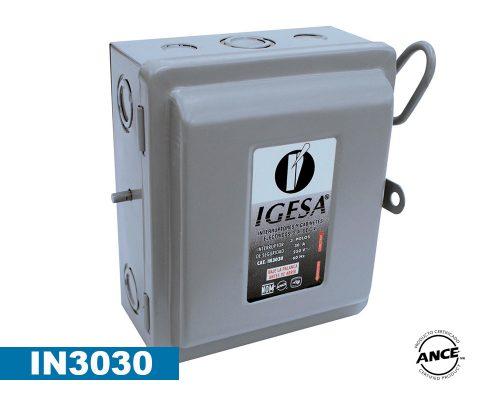 Interruptor de seguridad de 3 polos 30 Amp – IN3030