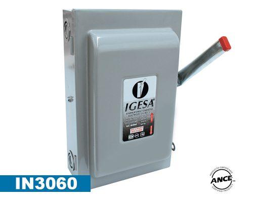 Interruptor de seguridad de 3 polos 60 Amp – IN3060